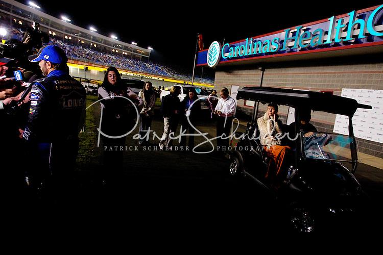 Bank of America Race 500 Race at Charlotte Motor Speedway - 10/16/2011...Photo by Patrick Schneider Photo.com.