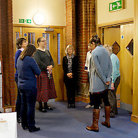 Morning prayers at Christ Church in Fulham, London, before the food bank opens its doors. Many food banks are run in or by local churches though not all volunteers at this bank would describe themselves as regular church goers.