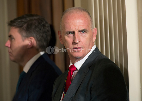 Keith Schiller, deputy assistant to the President and director of Oval Office operations attends a joint news conference with U.S. President Donald Trump and President Juan Manuel Santos of Colombia at the White House in Washington, DC, May 18, 2017. <br /> Credit: Chris Kleponis / CNP /MediaPunch