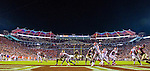 Clemson quarterback Deshaun Watson throws from his end one in the second half of an NCAA college football game against Florida State in Tallahassee, Fla., Saturday, Oct. 29,2016. Clemson defeated Florida State 37-34. (AP Photo/Mark Wallheiser)