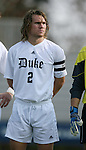 Duke's Tim Jepson on Sunday, November 19th, 2006 at Koskinen Stadium in Durham, North Carolina. The Duke Blue Devils defeated the Lehigh University Mountain Hawks 3-0 in an NCAA Division I Men's Soccer Championship third round game.