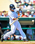 11 March 2009: Detroit Tigers' infielder Placido Polanco in action during a Spring Training game against the New York Yankees at Joker Marchant Stadium in Lakeland, Florida. The Tigers defeated the Yankees 7-4 in the Grapefruit League matchup. Mandatory Photo Credit: Ed Wolfstein Photo
