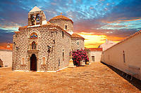 Greek Orthodox Monastery of the Profitis Ilias, Hydra,  Greek Saronic Islands.