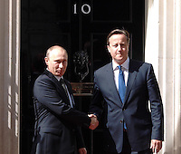 JUNE 16 2013 President Putin in Downing Street