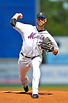 28 February 2011: New York Mets pitcher Mike Pelfrey on the mound against the Washington Nationals at Digital Domain Park in Port St. Lucie, Florida. The Nationals defeated the Mets 9-3 in Grapefruit League action. Mandatory Credit: Ed Wolfstein Photo