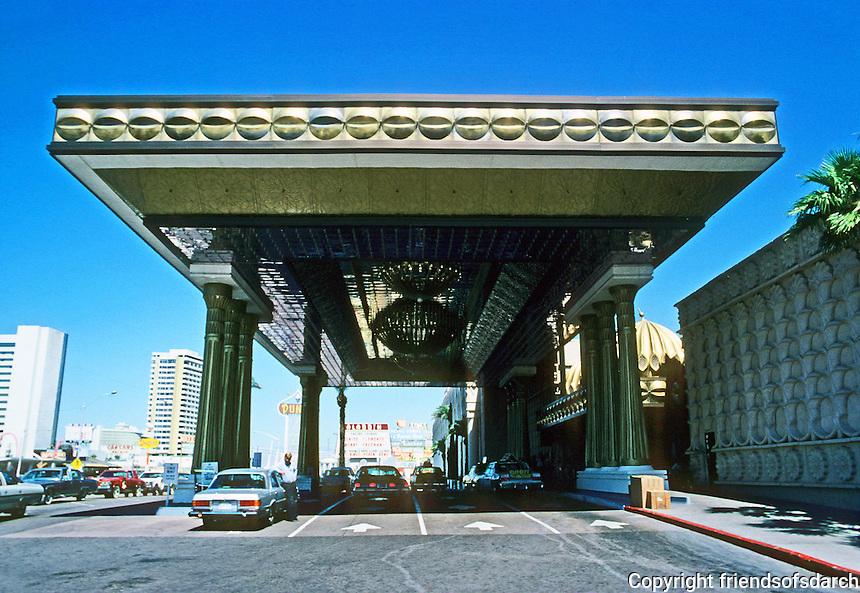 Las Vegas: The Alladin--entrance. Photo '79.