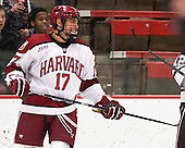 Greg Gozzo (Harvard - 17) - The Harvard University Crimson defeated the Colgate University Raiders 4-1 (EN) on Friday, February 15, 2013, at the Bright Hockey Center in Cambridge, Massachusetts.