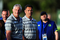 Bath Rugby Head Coach Tabai Matson looks on during the pre-match warm-up. Pre-season friendly match, between Leinster Rugby and Bath Rugby on August 26, 2016 at Donnybrook Stadium in Dublin, Republic of Ireland. Photo by: Patrick Khachfe / Onside Images