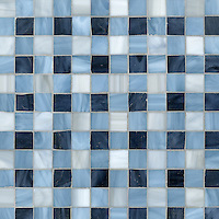 Bonnie, a jewel glass mosaic field shown in Pearl, Zircon and Mica, is part of the Plaids and Ginghams Collection by New Ravenna Mosaics.