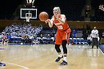 10 February 2017: Syracuse's Isabella Slim (NED). The Duke University Blue Devils hosted the Syracuse University Orange at Cameron Indoor Stadium in Durham, North Carolina in a 2016-17 Division I Women's Basketball game. Duke won the game 72-55.