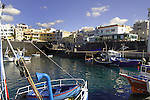 Fishing boats in the harbour of Los Abrigos, Tenerife, Canary Islands, Spain