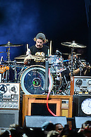 WEST PALM BEACH, FL - AUGUST 05: Alex Shelnutt of A Day To Remember perform at Perfect Vodka Amphitheatre on August 5, 2016 in West Palm Beach, Florida. Credit: MPI10 / MediaPunch