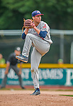 9 July 2015: Mahoning Valley Scrappers pitcher Matt Esparza on the mound against the Vermont Lake Monsters at Centennial Field in Burlington, Vermont. The Scrappers defeated the Lake Monsters 8-4 in 12 innings of NY Penn League play. Mandatory Credit: Ed Wolfstein Photo *** RAW Image File Available ****