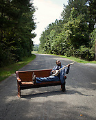 Mike Wiley, actor, playwright, filmmaker, educator, and now beginning banjo player, Pittsboro, Monday, July 16 , 2012.