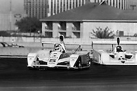 LAS VEGAS, NV - OCTOBER 16: Bobby Rahal drives the #5 Paul Newman March 817 1/Chevrolet ahead of Rocky Moran in the #15 Lola Frissbee GR2/Chevrolet during the Coors Can Am Challenge SCCA Can-Am race on the temporary circuit in Las Vegas, Nevada, on October 16, 1981..