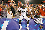 Auburn devensive back T'Sharvan Bell celebrates with fans the 37-34 win over UK at Commonwealth Stadium on Saturday, Oct. 9, 2010. Photo by Scott Hannigan | Staff