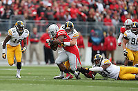Ohio State Buckeyes running back Carlos Hyde (34) charges down the field during Saturday's game in Columbus, Ohio on Saturday, Oct. 19, 2013. (Jabin Botsford / The Columbus Dispatch)
