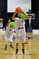 Action from the NBL Final Four - Saints v Giants at TSB Bank Arena, Wellington, New Zealand on Friday 4 July 2014. <br /> Photo by Masanori Udagawa. <br /> www.photowellington.photoshelter.com.