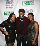 Shante Bacon of 135th street Agency, Sway and Saptosa Foster of 135th Street agency Attend 135th Street Agency Holiday Party Featuring the Beautiful Textures 2014 Upfront! And Special Performance by Atlantic Records' Sevyn Streeter Hosted by Angela Yee, Angela Simmons and Sway Calloway Held at Arena, NY