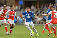 San Jose, CA - Thursday July 28, 2016: Clint Dempsey during a Major League Soccer All-Star Game match between MLS All-Stars and Arsenal FC at Avaya Stadium.