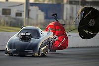May 18, 2012; Topeka, KS, USA: NHRA top alcohol funny car driver Kirk Williams during qualifying for the Summer Nationals at Heartland Park Topeka. Mandatory Credit: Mark J. Rebilas-