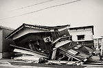 The home is destroyed in the town of Ojiya in the northern province of Niigata, Japan shortly after the Chuetsu earthquake, a magnitude 6.9 quake which struck the region  on October 23, 2004.