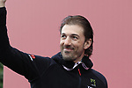Recently retired Champion Fabian Cancellara (SUI) at sign on before the start of the 2017 Strade Bianche running 175km from Siena to Siena, Tuscany, Italy 4th March 2017.<br /> Picture: Eoin Clarke | Newsfile<br /> <br /> <br /> All photos usage must carry mandatory copyright credit (&copy; Newsfile | Eoin Clarke)
