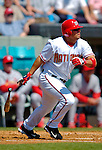 8 March 2006: Jose Vidro, second baseman for the Washington Nationals, at bat during a Spring Training game against the St. Louis Cardinals. The Cardinals defeated the Nationals 7-4 in 10 innings at Space Coast Stadium, in Viera, Florida...Mandatory Photo Credit: Ed Wolfstein.