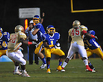 Oxford High's Parker Adamson (3) passes vs. Lafayette High at Bobby Holcomb Field in Oxford, Miss. on Thursday, August 30, 2012. Oxford High won 19-0.