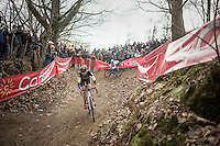 Ellen Van Loy (BEL/Telenet-Fidea) leading the way in the first round<br /> <br /> women's race<br /> CX Soudal Classics Leuven/Belgium 2017