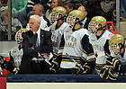 Oct. 21, 2011; Head coach Jeff Jackson watches from the bench during the opening Hockey game in the Compton Family Ice Arena...Photo by Matt Cashore/University of Notre Dame