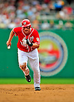 24 May 2009: Washington Nationals' right fielder Austin Kearns hustles to third against the Baltimore Orioles at Nationals Park in Washington, DC. The Nationals rallied to defeat the Orioles 8-5 and salvage one win of their interleague series. Mandatory Credit: Ed Wolfstein Photo