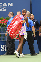 FLUSHING NY- SEPTEMBER 05: Venus Williams leaving the court after the match with Yaroslava Shvedova on Arthur Ashe Stadium at the USTA Billie Jean King National Tennis Center on September 5, 2016 in Flushing Queens. Credit: mpi04/MediaPunch