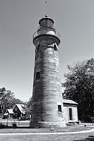 The Erie Land Light, also known as the Old Presque Isle Light, located in Erie, Pennsylvania.