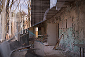 A school in Pripyat, a ghost town left deserted by the nuclear disaster in the Chernobyl power station nearby. 30 years on, the city is still heavily contaminated, unfit for human life. <br />