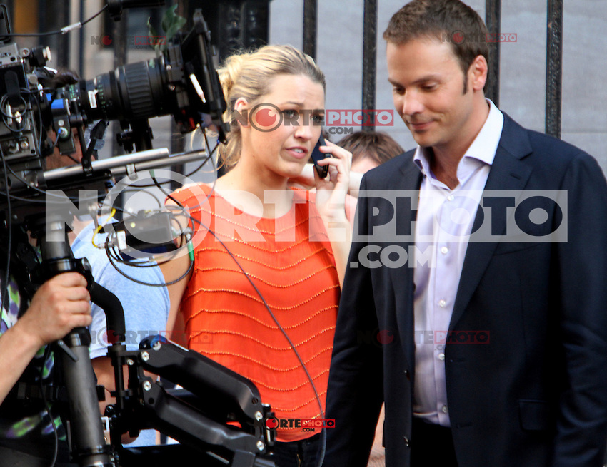 July 17, 2012 Barry Watson,Blake Lively shooting on location for Gossip Girl  in New York City.Credit:&copy; RW/MediaPunch Inc. /NortePhoto.com<br />