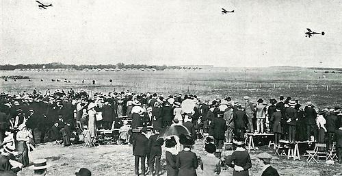 Reims (Francia) concurso de aviación, ©Hugelmann, 1913