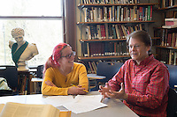 20140412 Classics Professor Jacques Bailly with student Bronwen Hudson