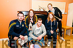 "Boro Players : Moyvan's Borao Players Donie Enright, Aine Cronin, Jamie Vaughan, Aine Scannell & Katie galvin in rehersal for their upcoming presentation of Brian Michael O'Connell's 1act play ""Flrdged & Flown""  during the Moyvane Halloween Festival on Sundayy 30th October at the Marian Hall."