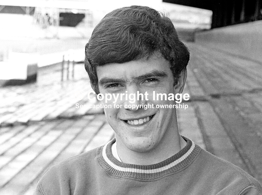 Bryan Hamilton, footballer, Linfield FC, Belfast, N Ireland, August, 1967, 196708000068<br /> <br /> Copyright Image from Victor Patterson,<br /> 54 Dorchester Park, Belfast, UK, BT9 6RJ<br /> <br /> t1: +44 28 90661296<br /> t2: +44 28 90022446<br /> m: +44 7802 353836<br /> <br /> e1: victorpatterson@me.com<br /> e2: victorpatterson@gmail.com<br /> <br /> For my Terms and Conditions of Use go to<br /> www.victorpatterson.com