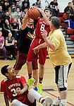 2-14-14, Forysthe 8th grade basketball team vs. Forsythe staff members