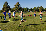 Eagle sophomore Dylan Harm and senior Ty Sterk sprint to the finish during the NNU Invite at West Park in Nampa, ID on September 11, 2010.<br /> <br /> Harm (18:24.13) and Sterk	(18:24.61) finished in sixteenth and seventeenth respectively in the junior varsity race.