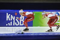 SCHAATSEN: HEERENVEEN: 24-10-2014, IJsstadion Thialf, Topsporttraining, Maurice Vriend, Sjoerd de Vries, ©foto Martin de Jong