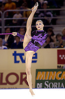 October 19, 2001; Madrid, Spain:  IRINA FUNTIKOVA of Canada performs with rope at 2001 World Championships at Madrid.