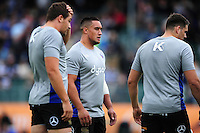 Leroy Houston of Bath Rugby looks on during the pre-match warm-up. Aviva Premiership match, between Bath Rugby and Worcester Warriors on September 17, 2016 at the Recreation Ground in Bath, England. Photo by: Patrick Khachfe / Onside Images