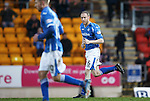 St Johnstone v Aberdeen...06.02.16   SPFL   McDiarmid Park, Perth<br /> No celebration from Steven Anderson after he scored his goal<br /> Picture by Graeme Hart.<br /> Copyright Perthshire Picture Agency<br /> Tel: 01738 623350  Mobile: 07990 594431