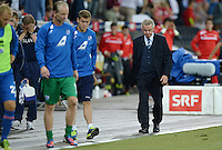 Fussball International  WM Qualifikation 2014   in Bern Schweiz - Island          06.09.2013 Enttaeuschung; Trainer Ottmar HITZFELD (Schweiz)