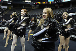 18 February 2016: Wake Forest's Dance Team. The Wake Forest University Demon Deacons hosted the University of Notre Dame Fighting Irish at Lawrence Joel Veterans Memorial Coliseum in Winston-Salem, North Carolina in a 2015-16 NCAA Division I Women's Basketball game. Notre Dame won the game 86-52.