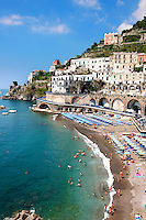 Resort town of Atrani ; Amalfi Coast ; Italy