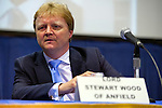 Lord Stewart Wood of Anfield is a panelist on &quot;Change in the White House? Comparing the George W. Bush and Barack Obama Presidencies&quot; on Thursday, April 19, 2012, at Hofstra University, Hempstead, New York, USA. Hofstra's event was part of <br />